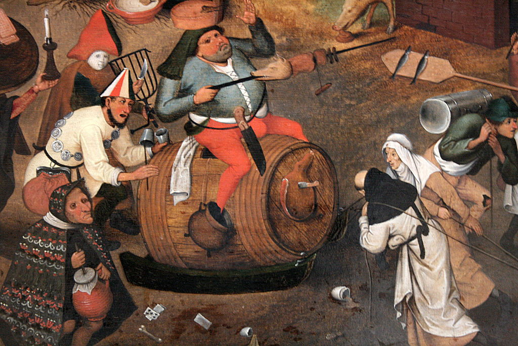 Carnival (detail), by Pieter Brueghel the younger