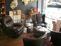 Lounge area at ABC Wine Company, NYC