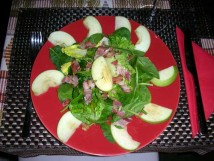 German wine with Denise and Douglas: salad