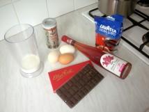 Ingredients for Benita's chocolate mousse
