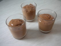 The chocolate mousse