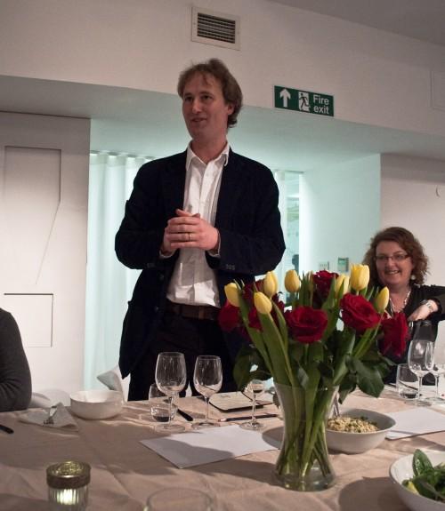 Charlie Bigham explaining his food philosophy
