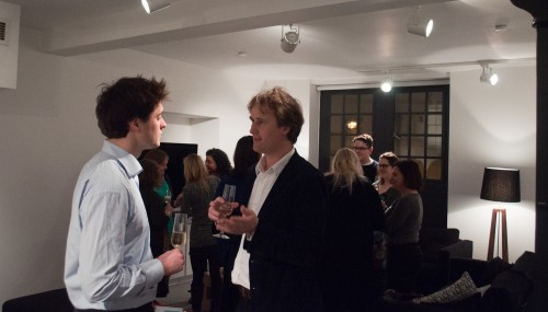 Charlie Bigham talking to the latest dinner guest