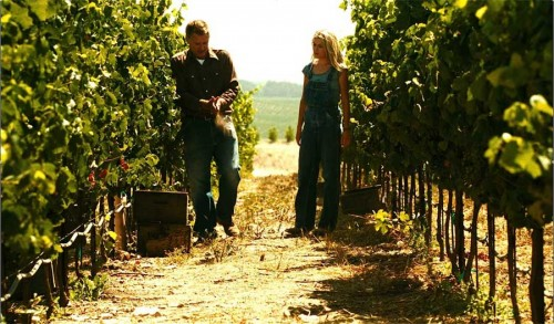 Jim Barrett teaches intern Sam about wine and soil
