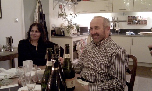 the Fornasiers at the tasting