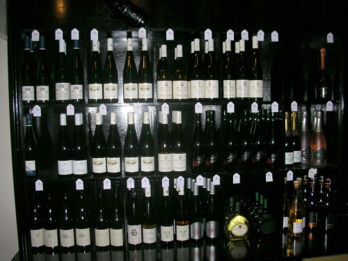 The Wall of German wine