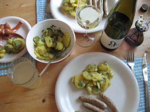Winning combination: Potato Salad, Sausages, Silvaner