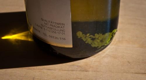 tartaric acid in the bottle