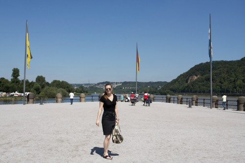 Here I am where the Rhine and Mosel converge