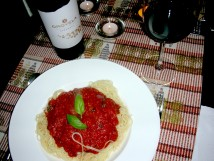 Orovela 2005 and pasta
