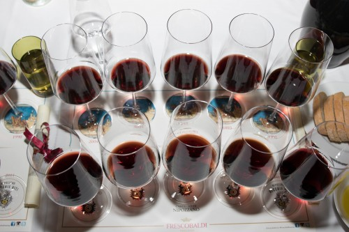 30 years of Sangiovese, lining up to be tasted