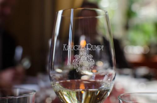 glass with Kruger-Rumpf emblem