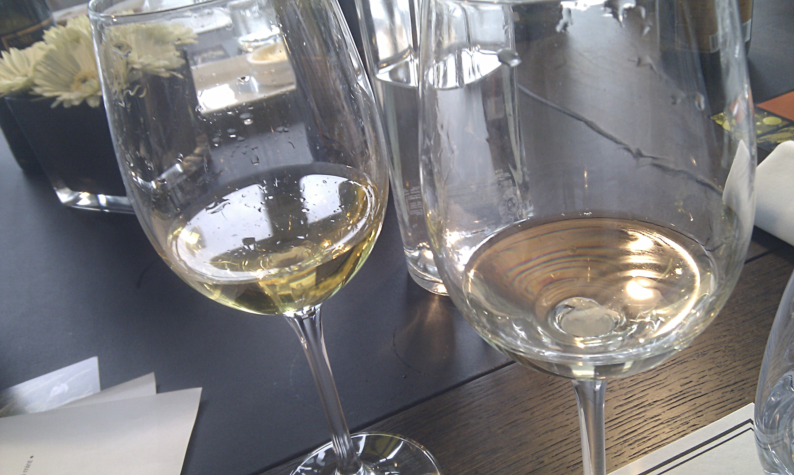 colour difference: rich 1990 Auslese vs light Urban Riesling