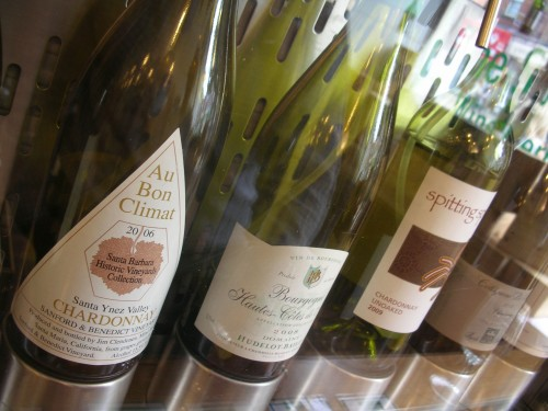 Chardonnays at the Sampler