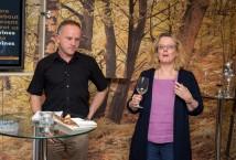 Laura Jewell MW and Graham Nash at Tesco Christmas tasting 2012