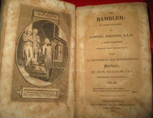 cover of Samuel Johnson's The Rambler, Stanford University Libraries