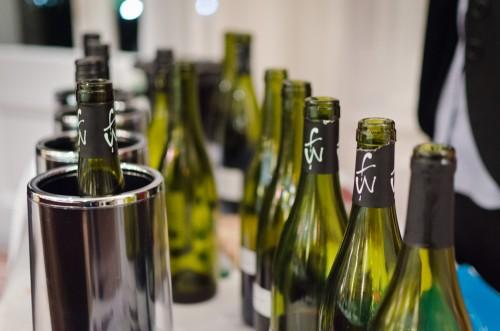 row of Baden red wine