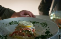 Dinner at the White Room, salmon